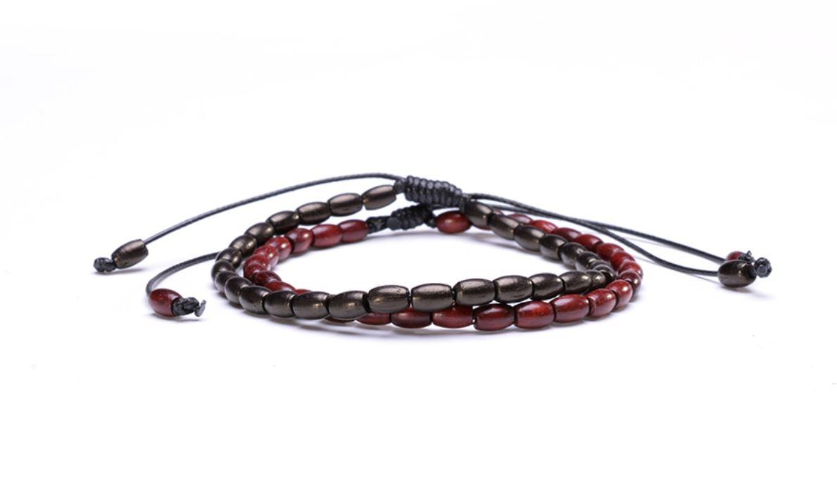 bracelet tibetain bois zen
