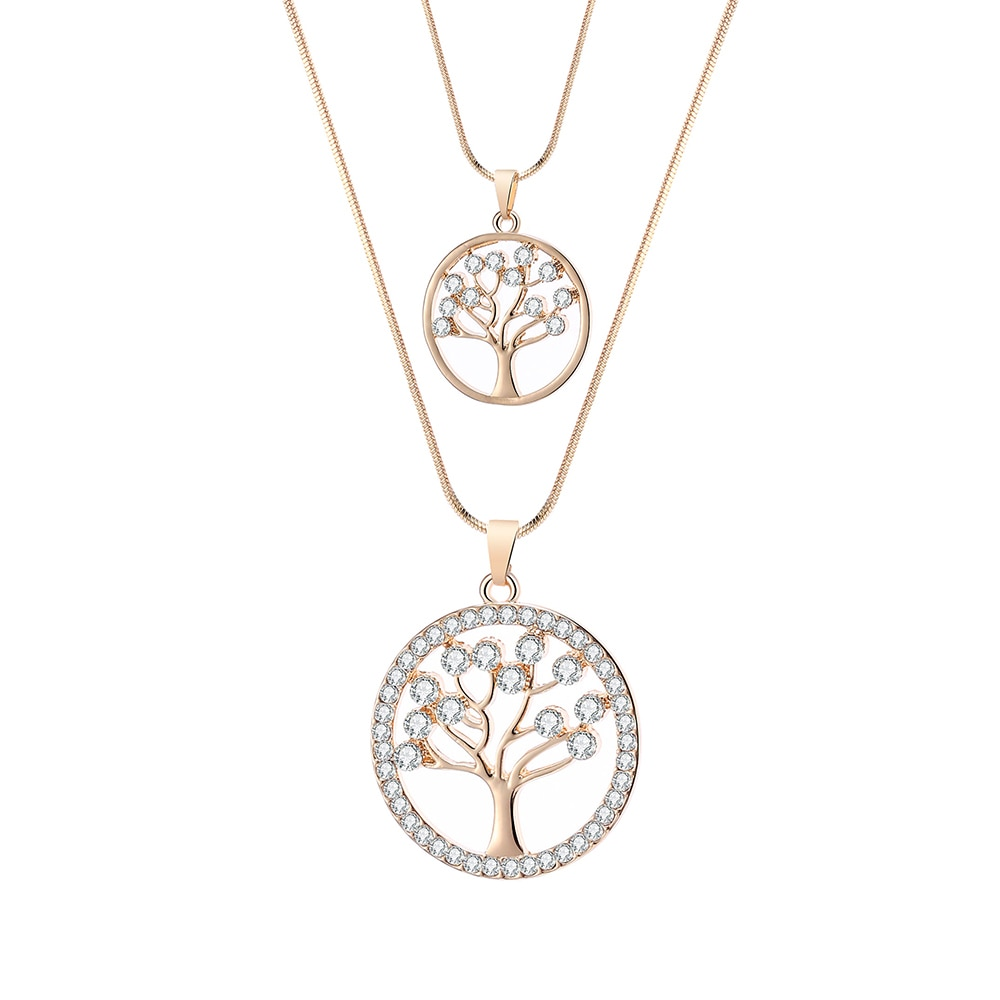 Double colliers Arbre de vie - Duo