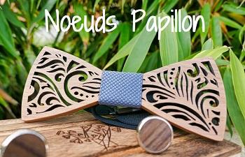 noeuds papillon bois personnalisables