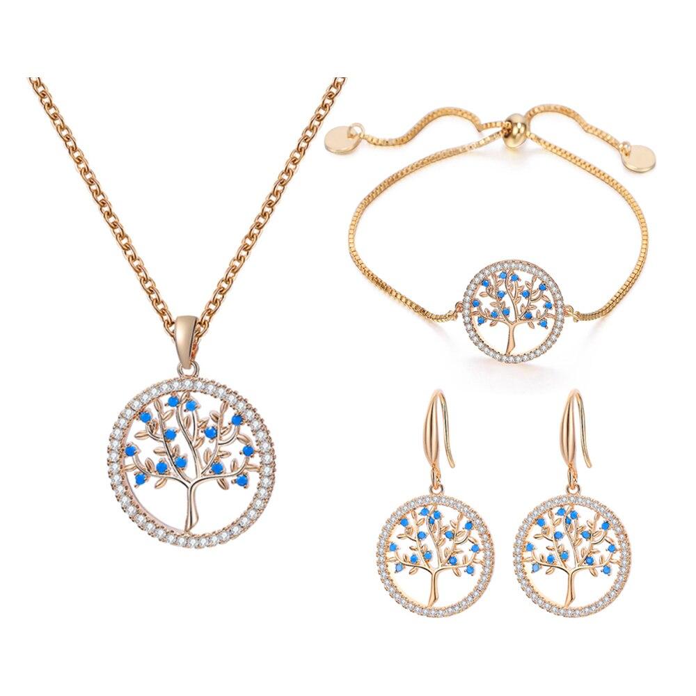Parure bijoux Arbre de vie - Eclatant