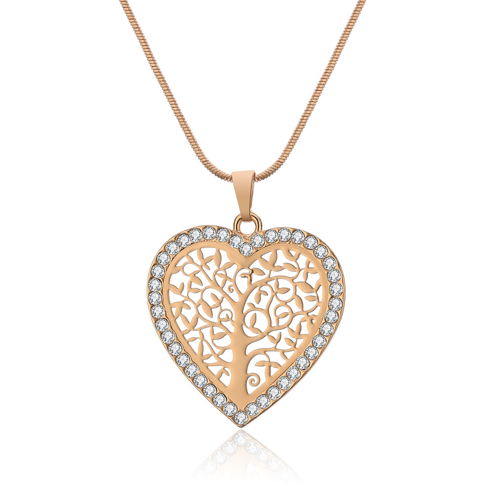 Collier Arbre de vie Or - Coeur