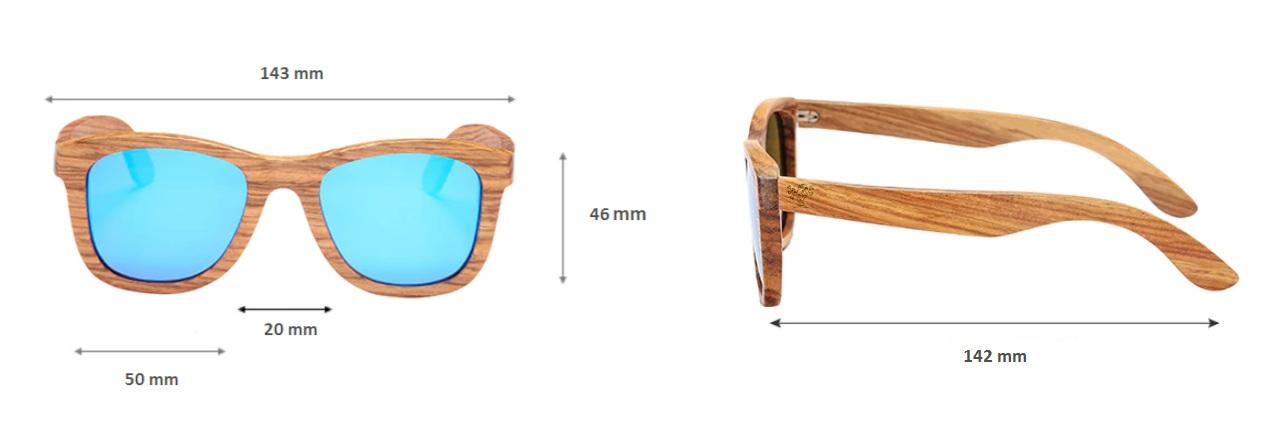 Lunettes en bois mixte Intemporel Zebra Lunettes en bois
