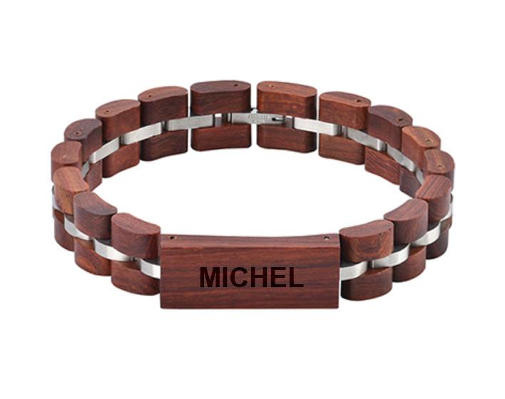 Bracelet bois personnalisé - Prénom