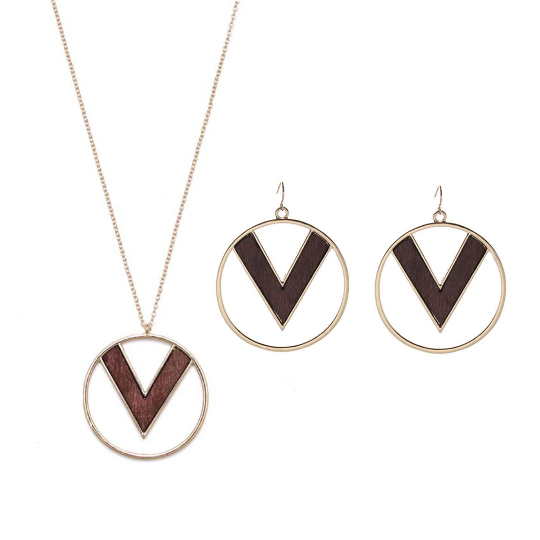 Parure bijoux bois - Victoire