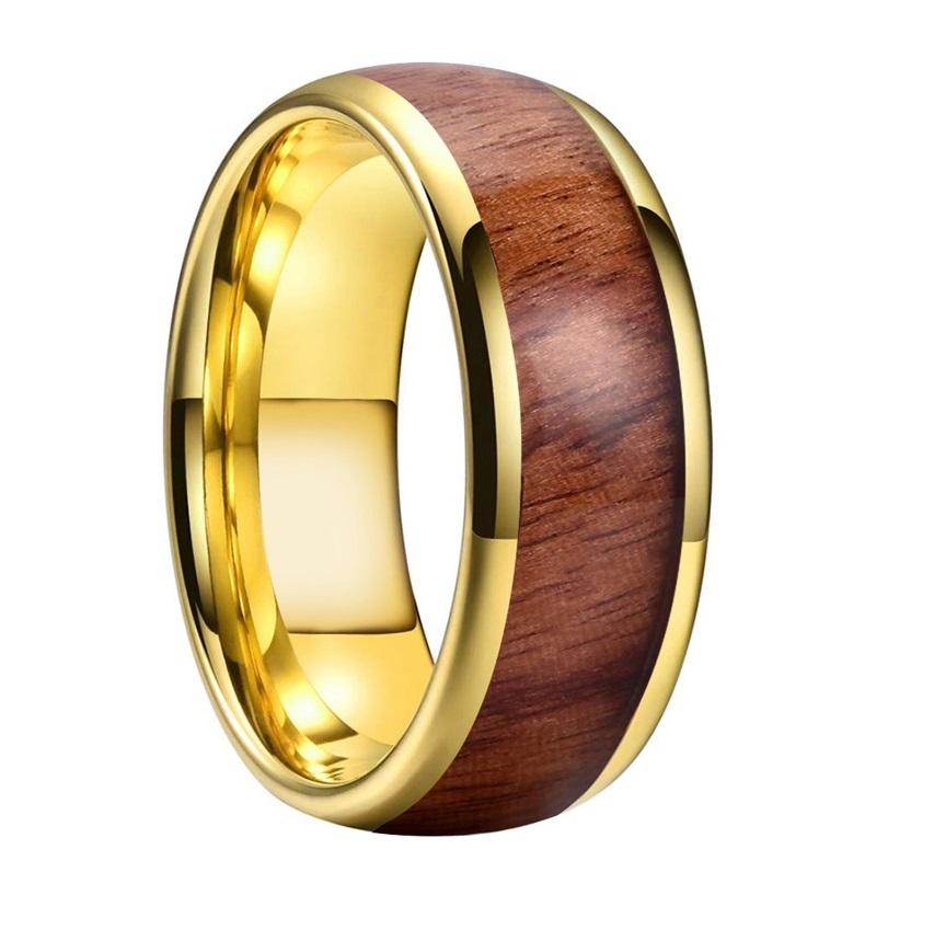 Homme-or-jaune-tungstane-bague-bois-alliance-de-mariage-avec-incrustation-de-bois-veritable