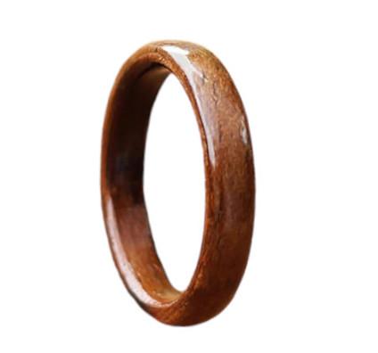 Bague en bois brut - 3 mm - Bubinga