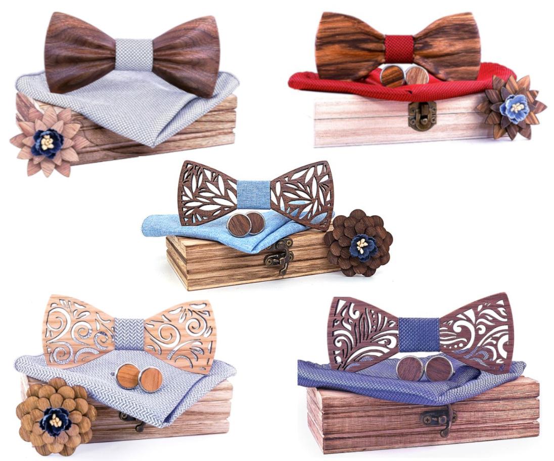 Noeuds papillon bois - Modèles livrés sous 7 Jours