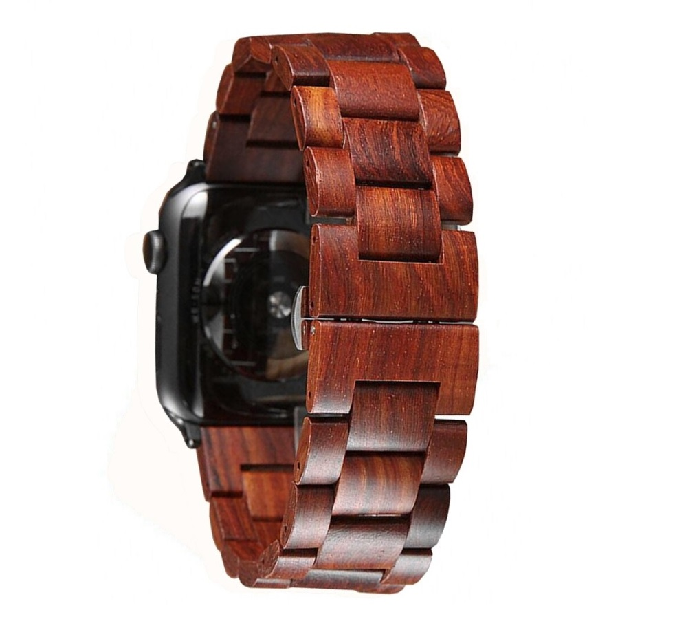 Bracelet Montre connectée en bois Apple iWatch
