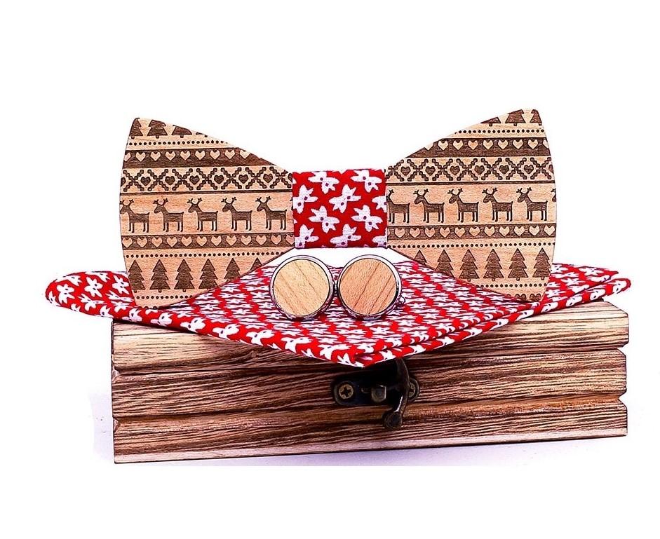 Noeud papillon bois - Noël
