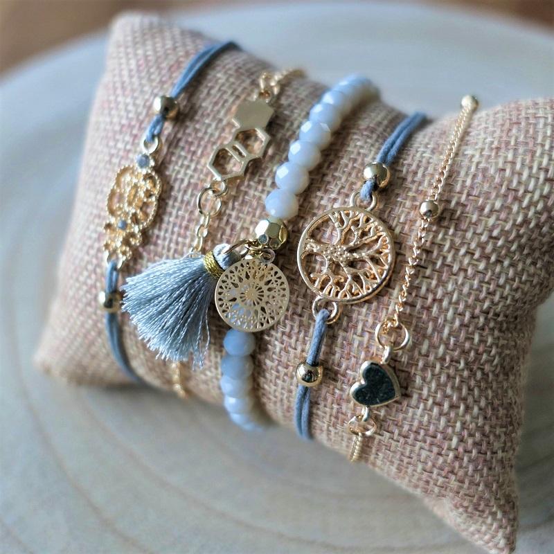 Ensemble de bracelets Arbre de vie - Coeur