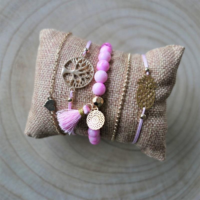 Ensemble de bracelets Arbre de vie - Ananas
