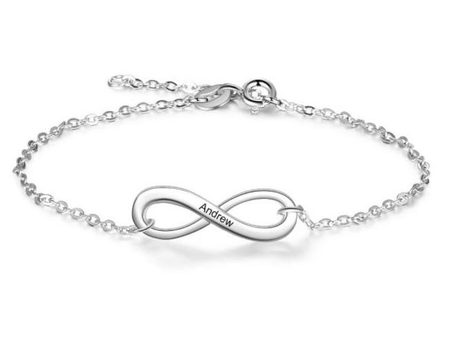 Bracelet infini gravé - prénom