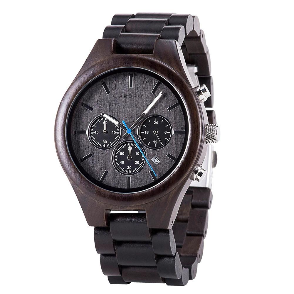 Montre bois chronographe homme - Aneto