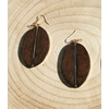 boucles d'oreilles en bois surf foncées