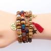 lot de bracelets en bois style tibétain