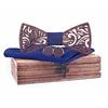 Noeud papillon floral bleu