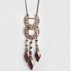 Femmes-en-bois-pendentif-collier-Vintage-Antique-plaqu-or-pierre-naturelle-bois-perle-pendentif-longue-cha