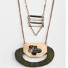 Femmes-r-tro-fait-la-main-en-bois-naturel-pendentif-collier-Vintage-or-Triangle-en-alliage