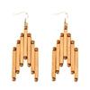 grandes boucles d'oreilles en bois bambou