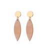 boucles d'oreilles bois forme géométrique à la mode