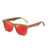 lunettes de soleil bois skateboard personnalisable verres orange