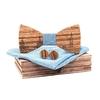 noeud papillon bois toulouse bleu ciel