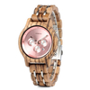 montre bois chronographe - Shine rose