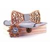 coffret noeud papillon bois blanc bleu