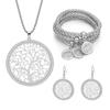 parure-arbre-de-vie-bracelet-collier-boucles-oreilles-cristaux-déclaration-argent