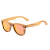 lunettes en bois intemporel zebra orange