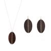 parures bijoux bois forme goutte