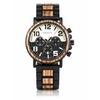 montre en bois personnalisable chronographe aviator