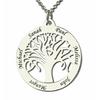 collier arbre de vie acier argent pas cher personnalisé 6 prenoms