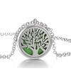 pendentif motif arbre couleur verte pour huiles essentielles