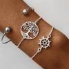 Bracelets arbre de vie argent gouvernail joinc