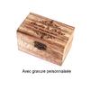 Boite en bois avec gravure personnalisée mariage pacs