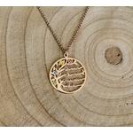 collier arbre de vie pierre de naissance 6 prénoms