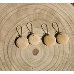 boucles doreilles en bois nature