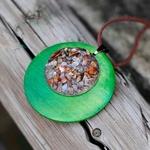 collier sautoir vert pierre