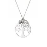 sautoir pendentifs arbre de vie en argent