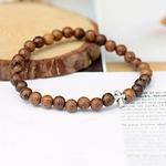 bracelet perles en bois et métal pour homme et femme