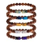 Bracelet perles de bois original