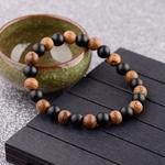 bracelet en bois type bouddhiste nature bicolore