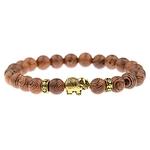 bracelet en perles avec éléphant pour femme ou homme