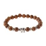 bracelet avec perles en bois style bouddhiste yoga nature elephant