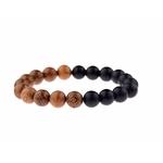 bracelet mala noir et marron nature
