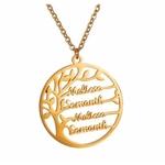 collier personnalisable avec plusieurs prénoms en plaqué or
