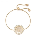 bracelet plaqué or arbre de vie