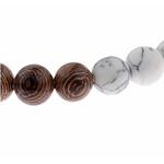 perles de bracelet mala nature et blanc