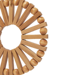 grandes boucles doreilles pendantes en bois bambou rondes cercle tendance été